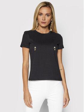 Elisabetta Franchi Elisabetta Franchi T-Shirt MA-206-16E2-V140 Czarny Regular Fit