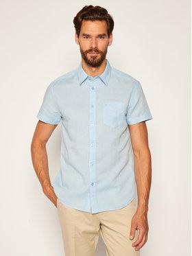 Wrangler Wrangler Camicia Ss 1Pkt W5J1LOXVT Blu Regular Fit