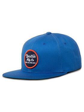 Brixton Brixton Kepurė su snapeliu Wheeler Snapback 00375 Mėlyna