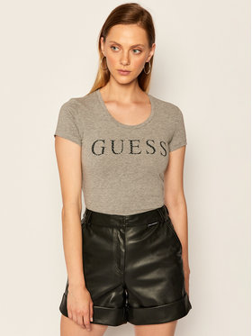 Guess Guess Tričko Emma W0YI0F J1300 Sivá Regular Fit