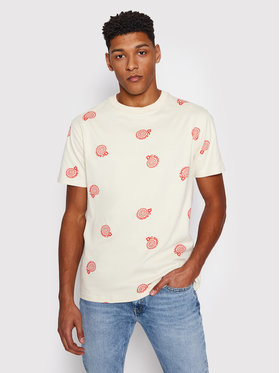 DC DC T-Shirt Unruly ADYKT03169 Beżowy Regular Fit