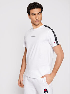 Champion Champion T-Shirt Jacquard Logo 214229 Biały Comfort Fit
