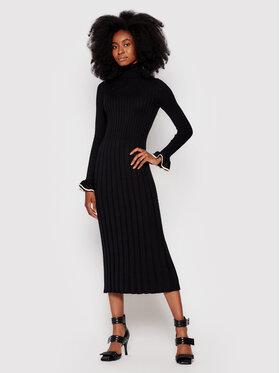 TWINSET TWINSET Úpletové šaty 212TP3023 Černá Slim Fit