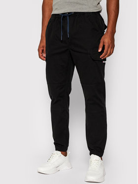 Tommy Jeans Tommy Jeans Kalhoty z materiálu Cargo DM0DM10511 Černá Regular Fit