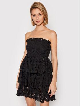 Rinascimento Rinascimento Sukienka letnia CFC0103557003 Czarny Slim Fit