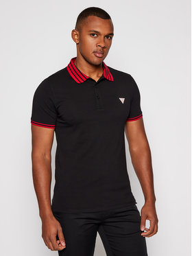 Guess Guess Polo Nolan M0BP66 J1311 Nero Extra Slim Fit
