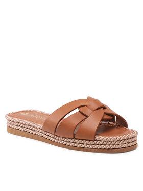 Carinii Carinii Mules / sandales de bain B6241 Marron