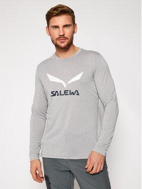 Salewa Salewa Тениска от техническо трико Solidlogo Dry 27340 Сив Regular Fit