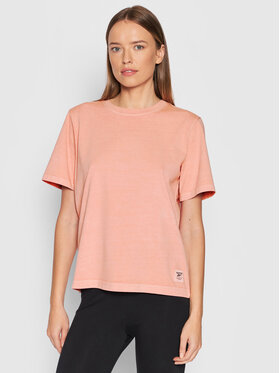 Reebok Reebok T-Shirt Natural Dye H11210 Pomarańczowy Regular Fit