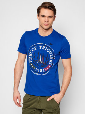 Aeronautica Militare Aeronautica Militare Marškinėliai 211TS1856J513 Mėlyna Regular Fit