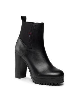 Tommy Jeans Tommy Jeans Botki Essentials High Heel Boot EN0EN01547 Czarny