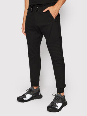 Tigha Tigha Παντελόνι φόρμας Trevor Zip 102585 Μαύρο Regular Fit