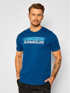 Under Armour Under Armour Marškinėliai Blurry Logo 1357154 Mėlyna Loose Fit