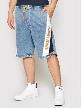 Tommy Jeans Tommy Jeans Kratke traperice Elastictd DM0DM10551 Tamnoplava Baggy Fit