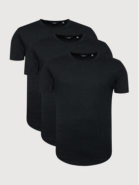 Only & Sons Only & Sons Set 3 tricouri Matt 22013782 Negru Regular Fit
