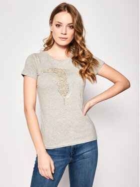Trussardi Jeans Trussardi Jeans T-Shirt 56T00237 Šedá Slim Fit
