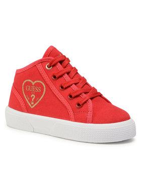 Guess Guess Sneakersy Piuma Mid FI7PAM FAB12 Červená