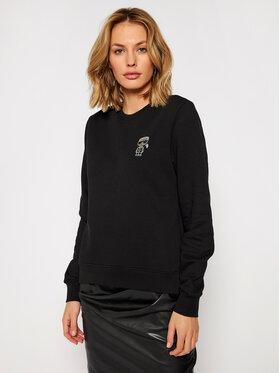 KARL LAGERFELD KARL LAGERFELD Sweatshirt Ikonik Mini Karl Rs 206W1815 Schwarz Regular Fit