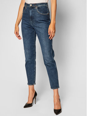 Wrangler Wrangler Mom Fit džinsai W246WB18U Tamsiai mėlyna Mom Fit