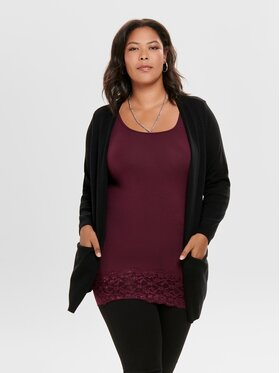 ONLY Carmakoma ONLY Carmakoma Cardigan Stone 15183361 Noir Relaxed Fit