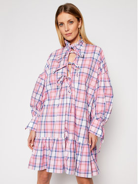 MSGM MSGM Kleid für den Alltag 3041MDA19A 217005 Rosa Regular Fit