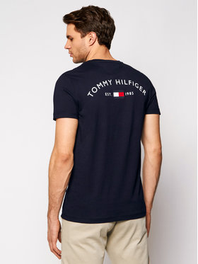 Tommy Hilfiger Tommy Hilfiger T-shirt Back Logo MW0MW17681 Blu scuro Regular Fit