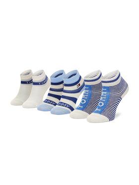 Tommy Hilfiger Tommy Hilfiger Súprava 3 párov detských členkových ponožiek 100002326 Modrá