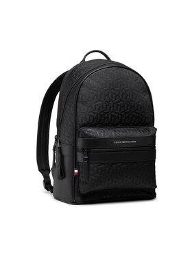 Tommy Hilfiger Tommy Hilfiger Σακίδιο Elevated Nylon Backpack Mono AM0AM07096 Μαύρο