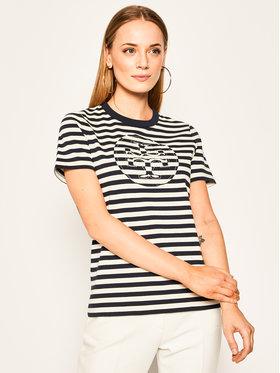 Tory Burch Tory Burch T-shirt Striped Logo 63871 Šarena Regular Fit