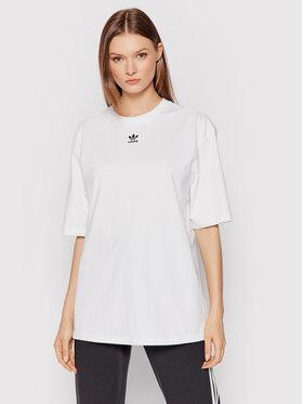 adidas adidas T-Shirt adicolor Essentials H45578 Biały Loose Fit