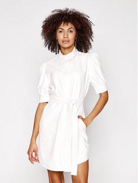 TwinSet TwinSet Šaty z imitácie kože 211TT2020 Biela Slim Fit