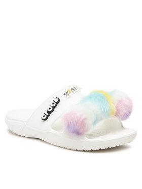 Crocs Crocs Шльопанці Classic Crocs Fur Sure Sandal 207405 Білий