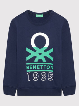 United Colors Of Benetton United Colors Of Benetton Суитшърт 3J68C15B6 Тъмносин Regular Fit
