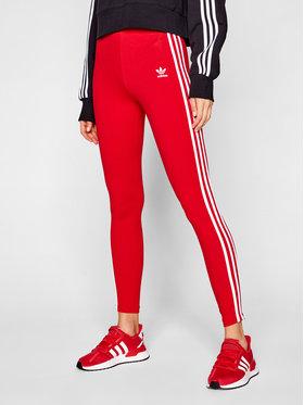 adidas adidas Leginsai 3-Stripes adicolor Classics GN8076 Raudona Slim Fit