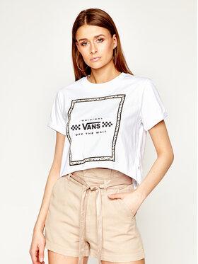 Vans Vans T-shirt Leila Tee VN0A4CWXWHT Blanc Oversize