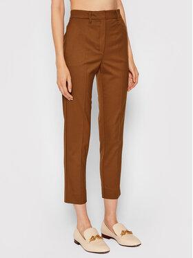 Marella Marella Pantalon en tissu Petalo 31361517 Marron Slim Fit