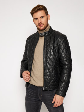 Joop! Joop! Veste en cuir Marty 1500119 Noir Regular Fit