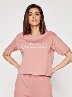 Sprandi Sprandi T-shirt SS21-TSD003 Ružičasta Cropp Fit