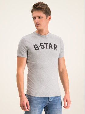 G-Star Raw G-Star Raw T-Shirt Graphic 16 D12584-1141-906 Šedá Slim Fit