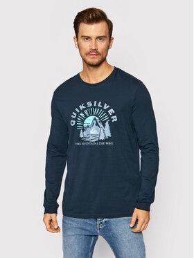 Quiksilver Quiksilver Тениска с дълъг ръкав Mountain Side EQYZT06549 Тъмносин Regular Fit