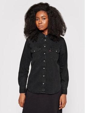 Levi's® Levi's® camicia di jeans Essential Western 16786-0004 Nero Regular Fit