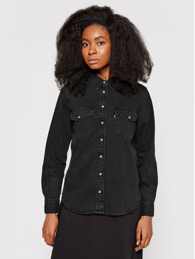 Levi's® Levi's® džínsová košeľa Essential Western 16786-0004 Čierna Regular Fit