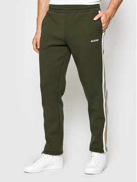 Guess Guess Spodnie dresowe U1BA27 FL046 Zielony Regular Fit