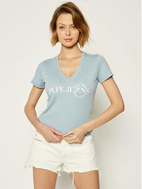 Pepe Jeans Pepe Jeans T-shirt Agnes PL504532 Blu Slim Fit