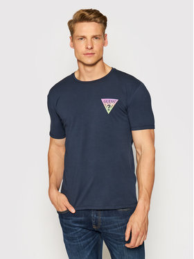 Guess Guess T-Shirt M93I66 J1300 Granatowy Super Slim Fit