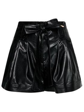 TwinSet TwinSet Kožené šortky 211TT2026 Čierna Regular Fit