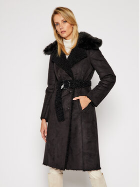 Patrizia Pepe Patrizia Pepe Žieminis paltas 2L0896/A7T6 Juoda Regular Fit
