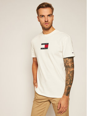 Tommy Jeans Tommy Jeans T-shirt Small Flag Tee DM0DM08351 Blanc Regular Fit