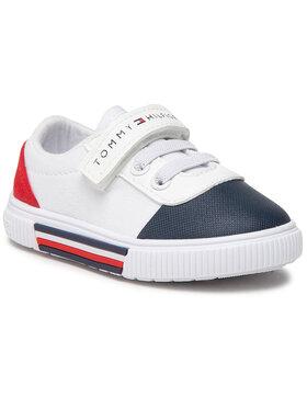 Tommy Hilfiger Tommy Hilfiger Trampki Low Cut Lace-Up/Velcro Sneaker T1B4-31068-0890 Biały
