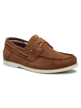 Tommy Hilfiger Tommy Hilfiger Mocassini Classic Suede Boat Shoe FM0FM02736 Marrone